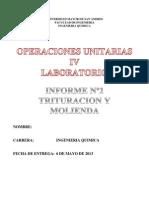 Informe Trituracion y Molienda