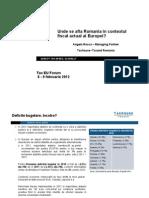 Taxhouse-Taxand Romania_Unde Se Afla Romania in Contextul Fiscal Actual Al Europei