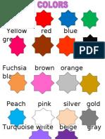 Colors Vocabulary Mio Solo Mio Tres