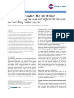 Guyton - The Role of Mean Circulatory Filling Pressure and Right Atrial Pressure in Controlling Cardiac Output Review