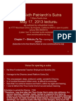 The Sixth Patriarch's Sutra May 17, 2013 Lecture