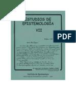 Estudios de epistemología 7