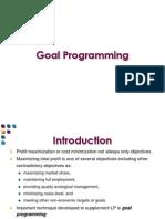 1. Goal Programming