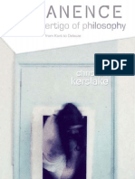 Kerslake Immanence and the Vertigo of Philosophy From Kant to Deleuze