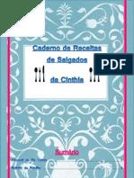 Caderno de Receitas de Salgados