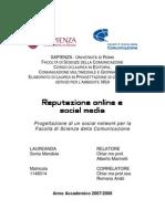 Tesi_Sonia Mendola_Reputazioneonline e Social Media