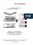 TM 11 5805 294 12 Manual Switchboard