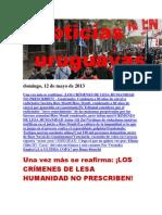 Noticias Uruguayas Domingo 12 de Mayo Del 2013