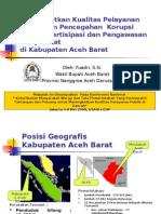 Presentari Tranparansi Dan Pelayanan Publik (Wabup Aceh Barat)