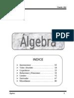 algebra 4to año.INEC. LOGARITMOS LIMITE DERIVADAS