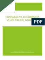 Comparativa documento vs Aplicación