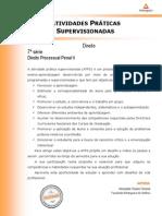2013 1 Direito 7 Direito Processual Penal II