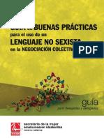 Pub52161 Guia de Buenas Practicas Para El Uso de Lenguaje No Sexista en La Negociacion Colectiva