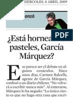 Quim Monzó. ¿Está horneando pasteles García Márquez