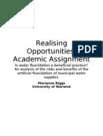 Academic Assignment Fluoridation