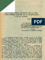 Sturdza. Miguel - Hacia Una Nueva Filosofia de La Vida y Una Posible Sintesis de Lo Teleologico y de Lo Casual