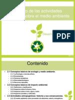 Impacto de las actividades humanas sobre el medio ambiente