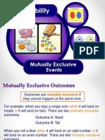 mutually exclusive outcomes mreadams