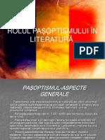 Rolul Pasoptismului in Literatura
