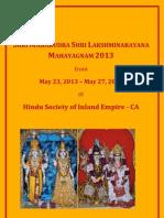 SHRI MAHARUDRA SHRI LAKSHMINARAYANA MAHAYAGNAM 2013