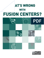 What's Wrong with Fusion Centers - ACLU