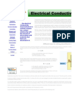 Electrical Conductivity of a Hydroponic Nutrient Solution