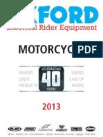 oxford Motorcycle catalogue 2013
