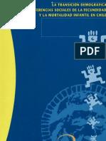 Transición demográfica diferencias sociales de fecundidad y mortalidad infantil Chile