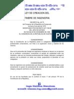 Ley de Creacion Del Timbre de Ingenieria