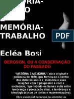 MEMÓRIA SONHO E MEMÓRIA TRABALHO