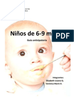 Guía Anticipatoria Niño 6-9 meses