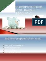 Zapreke Gospodarskom Razvoju i Kako Ih Prevladati