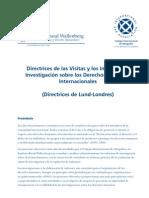 directrices de visitas e informes de derechos humanos