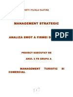 Management Strategic - Analiza SWOT a Firmei Dedeman