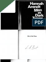 50453618 Hannah Arendt Men in Dark Times