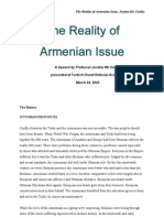 The Reality of Armenian Issue