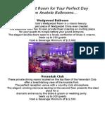 Hilton Anatole Ballroom Minimums