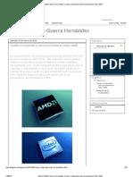 Gabriel Antonio Guerra Hernández_ Cuadro Comparativo entre procesadores Intel y AMD