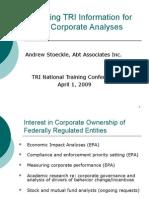 Corporate Environmental Performance