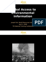 Global Access to Environmental Information - Joseph Foti