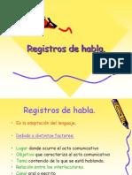 Registros de Habla 2009