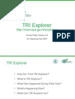 Understanding & Using TRI Data