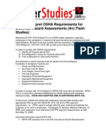 PowerStudies - How to Interpret OSHA Requirements for Electrical Hazards Assessments