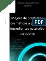 Mejora de Productos Cosmeticos a Partir de Ingredientes Naturales Accesibles