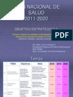 Plan Nacional de Salud y Pscv
