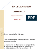 Escritura del articulo cientifico