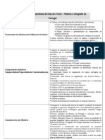 Competências específicas de final de 2  ciclo