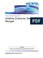 Installing Enterprise Switch Manager