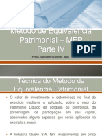 Unidade III - Método de Equivalência Patrimonial - Parte IV