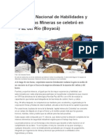 Concurso Nacional de Habilidades y Destrezas Mineras se celebró en Paz del Río